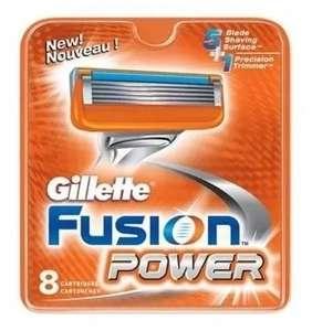 Сменные кассеты лезвия для бритья Gillette Fusion Power 8 шт