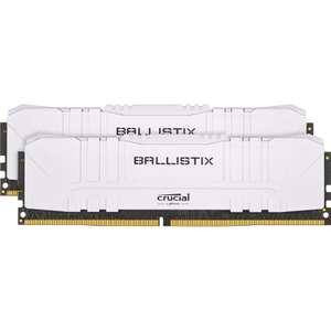 Подборка ОЗУ Ballistix из Computeruniverse со скидкой, например Crucial Ballistix White 32GB DDR4 2х16Гб 3600 cl16 BL2K16G36C16U4W