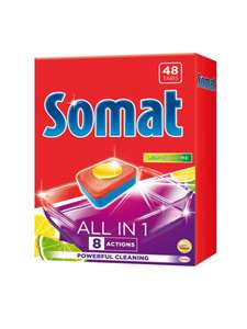 [Грозный] Таблетки для посудомоечной машины SOMAT All in 1 Лимон и Лайм, 48шт, Германия