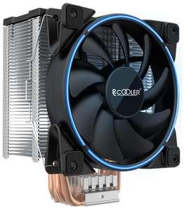 Кулер для процессора PCcooler GI-X5B V2 серебристый/черный/синий