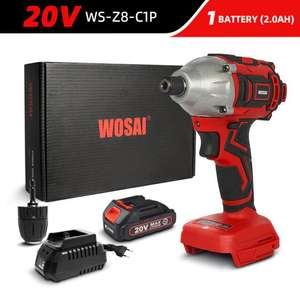 Ударный шуруповерт WOSAI WS-Z8 20V WS-Z8-C1P (кейс, аккумулятор, зарядка)