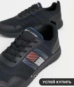Легкие черные кроссовки с логотипом в виде флага сбоку Tommy Hilfiger