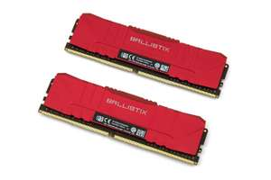 Crucial Ballistix Red 32 GB DDR4, 3600 MHz, 2x 16 GB Kit