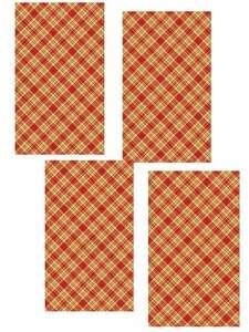 Набор полотенец Текстильная компания Русский Дом клетка красный Хлопок 35x60 см, 4 шт.
