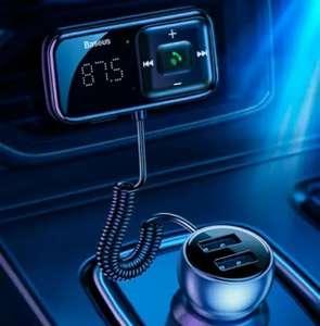 Автомобильный Fm-трансмиттер Baseus с быстрой зарядкой и громкой связью
