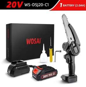 Бесщеточная цепная пила WOSAI 20V WS-DSJ20-C1 MT-Series 6 с аккумулятором (в описании УШМ WOSAI M14 20V WS-J7-C1 с аккумулятором)