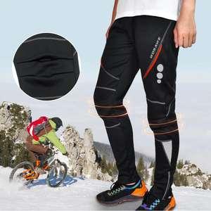 Зимние мужские флисовые теплые и ветрозащитные брюки WOSAWE