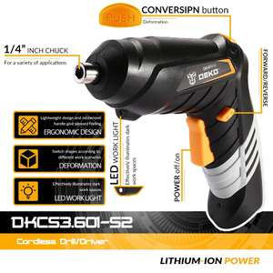 Аккумуляторная отвертка DEKO DKCS3.6O1