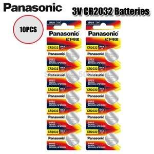 Литиевые батареи Panasonic CR2032, 10 шт./ 3 в