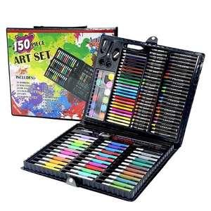 """Набор для рисования """"Чемоданчик юного художника"""" 150 предметов карандаши кисти краски фломастеры"""