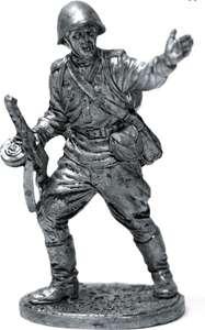 Оловянный солдатик 54мм - фигурка из олова - Гвардии рядовой Красной Армии СССР
