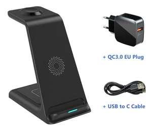 Беспроводное зарядное устройство 3 в 1 SZYSGSD для iPhone, Apple Watch, AirPods