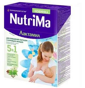 NutriMa Лактамил Напиток молочный для кормящих мам, 350 г х 2шт. (333₽ за 1 шт)