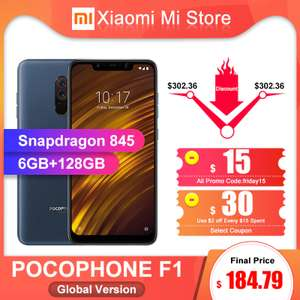 Xiaomi Pocophone F1 6+128GB Глобал. Цена 184.79$