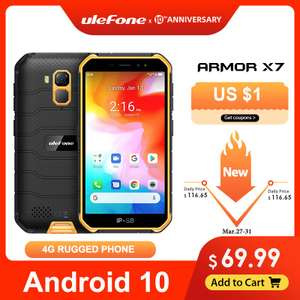 Ulefone Armor X7 5,0-дюймовый прочный водонепроницаемый смартфон Android10