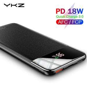 Повербанки YKZ с поддеркжой QC3.0/PD3.0 10000мАч