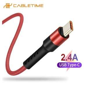 Type-c кабель Cabletime 1м 2.4А
