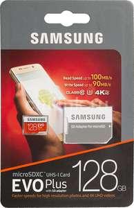 Samsung EVO Plus 100 Mb/s microSDXC UHS-I U3 128 ГБ