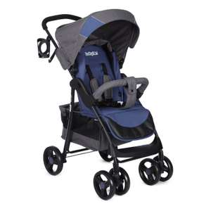Коляска прогулочная Babyton Comfort Blue-Grey E01