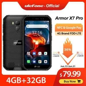 Защищенный телефон Ulefone Armor X7 Pro Android10 4/32Гб NFC 4G