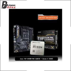 Процессор AMD Ryzen 5 3500X + мат. плата Asus TUF B450M-PRO GAMING