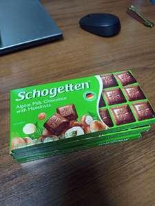 [РнД] Шоколад молочный альпийский с лесным орехом SCHOGETTEN 100Г