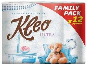 Туалетная бумага Kleo Ultra (3х-слойная 12шт)