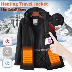 Водонепроницаемая куртка с функцией подогрева за $41.72