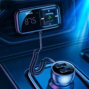 Baseus FM-модулятор-передатчик Bluetooth 5.0 + громкая связь
