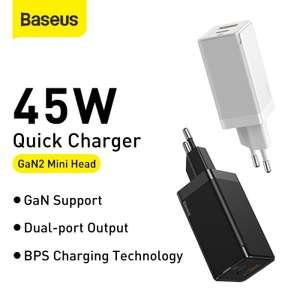 GaN зарядное устройство Baseus 45W