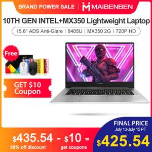 "Ноутбук Maibenben XiaoMai6Pro-E5100 15,6"" ADS/6405U/MX350/4G 8G RAM/240G 480G SSD + 1 ТБ HDD"