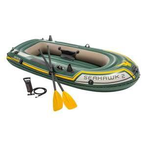 Лодка надувная Intex SeaHawk 2 с насосом и веслами, 236х114х41