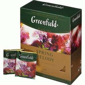 Чай Greenfield в ассортименте 100 пакетиков