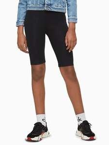 Детские велосипедные шорты с логотипом из органического хлопка Calvin Klein Jeans Kids