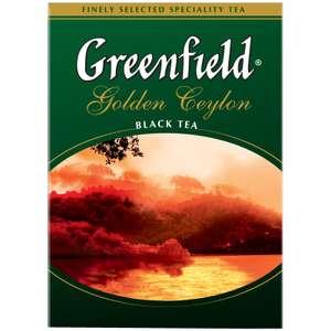 Чай greenfield golden ceylon 200г крупнолистовой