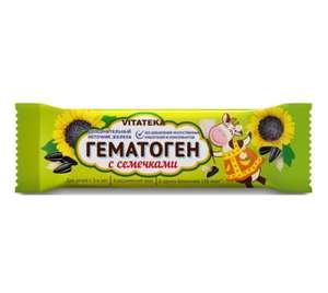 Витатека Гематоген с семечками, 40 г