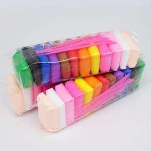 Пластилин воздушный 12 цветов, три упаковки (итого 36 штук)