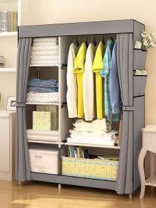 Складной тканевый шкаф Guocai для хранения одежды 170х45х105