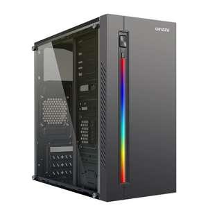 Компьютерный корпус Ginzzu D370 RGB со стеклом