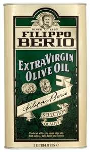 Масло оливковое Filippo Berio Extra Virgin, жестяная банка, 3 л.