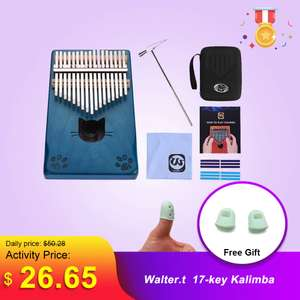Калимба Walter.t 17 Keys Thumb Piano