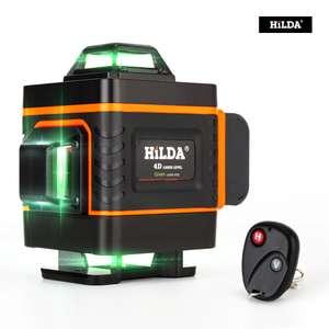 Лазерный уровень HILDA (нивелир) 4D 16 линий