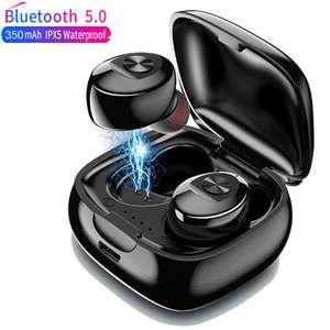 Hitoor TWS беспроводные наушники 5,0 True Bluetooth наушники IPX5