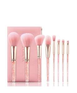 Набор кистей для макияжа ZOREYA crystal pink 10 шт.