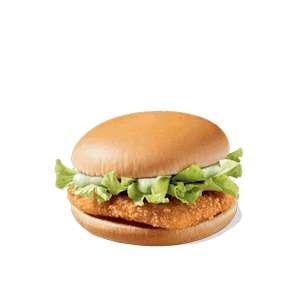 Чикенбургер через приложение