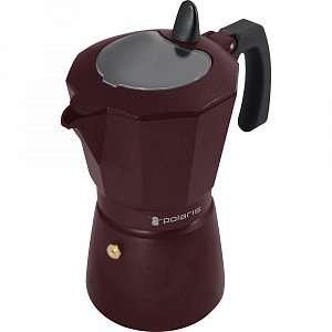 Гейзерная кофеварка Polaris Burgundy-6C