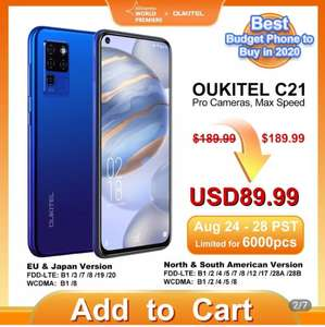 Смартфон OUKITEL C21 4 + 64 Гб с 24.08