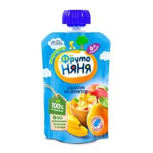 До -30% на питание Фруто няня при покупке упаковками, 12 шт. (например, фруктовый салатик 90г, цена за 1 шт)
