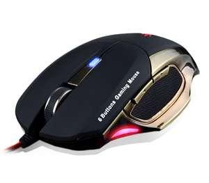 Мышь компьютерная Crown CMXG-604, 6 кнопок, DPI 800 / 1600