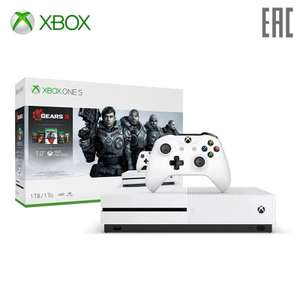 Xbox One S 1Tb + 5 игр Gears of War + Live Gold и Game Pass на 1 мес